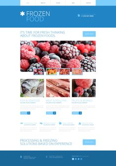 'Frozen Food' #webdesign #Bootstrap http://www.zign.nl/bootstrap-templates.html