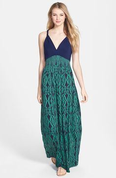 printed maxi dress @nordstrom