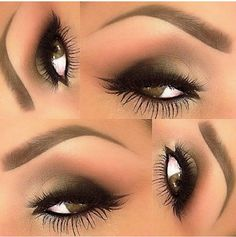 Gold and luxurious lashes