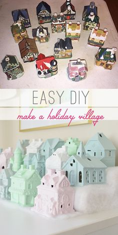 Obsessed with this $5 project! Such a fun little Christmas Village makeover!! ❤️