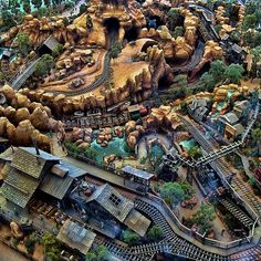 Thunder Mountain From Above : how cool! show this to the kids before your next Disney trip