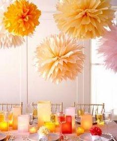 Fiori di carta velina per una tavola allegra #creativity #tavola #suggestioni