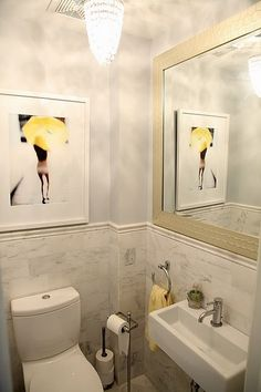 Powder Room Small Bathroom Design, Pictures, Remodel, Decor and Ideas - page 3 Powder Room Sink, Tiny Powder Rooms, Bathroom Interior, Small Bathroom, Tiny Bathrooms, Bathroom Decor, Bathroom Design, Yellow Bathrooms, Sink Design