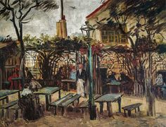 Vincent van Gogh - Terrace of a Cafe on Montmartre (La Guiguette), 1886 at Musee d'Orsay Paris France