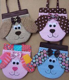 Imagem relacionada Felt Crafts, Fabric Crafts, Sewing Crafts, Sewing Projects, Sewing Patterns For Kids, Bag Patterns To Sew, Quilting For Beginners, Quilting Tutorials, Operation Shoebox