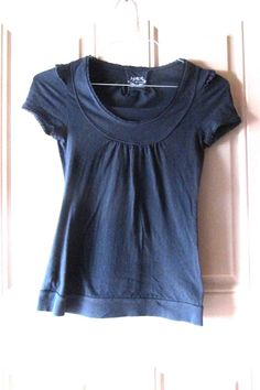 f23559e7 SO Black Pull Over Summer Top Small #SO #KnitTop #Casual Ebay Advertising,