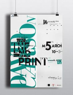 """David Carson's """"The End of Print"""" - 1 of 30 Stunning Typographic Posters - UltraLinx"""