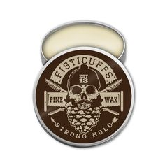 Fisticuffs Strong Hold Mustache Wax Pine scent