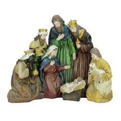 "21"" Religious Holy Family and Three Kings Christmas Nativity Scene Decoration"