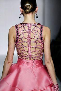 Cengiz Abazoglu #detailed #backless #dress