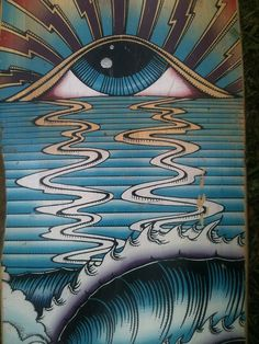 Third Eye // Black Hole Sun // Sunset over Water // Visionary Psychedelic Trippy Art Arte Dope, Dope Art, Psychedelic Art, Trippy Drawings, Art Drawings, Bad Trip, Art Conceptual, Culture Art, Eye Painting
