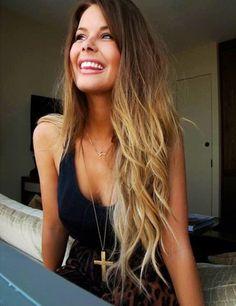 Love her hair- brunette-blonde- foil highlighting-balyaj-gölgeli -sarı-kumral saç rengi