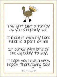 Preschool Thanksgiving Invitations Craft