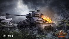 Download Fury Tank World of Tanks Game Wallpaper 1920x1080