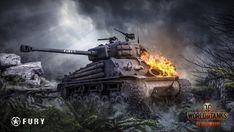 Download Fury Tank World of Tanks Game Wallpaper 1920x1080