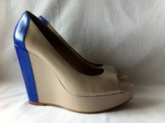 BCBGENERATION Women's Two-Toned Wedge Platform Heels Pumps Shoes Size 9B #BCBGeneration #PlatformsWedges