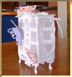 Side View of the Gift Box Side View, Bassinet, Victorian, Organization, Gift Ideas, Embroidery, Ornaments, Box, Gifts
