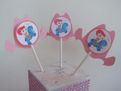 8 Cupcake Toppers Sheriff Callie Cowgirl Pink Western Hats Birthday Parties #BirthdayChild