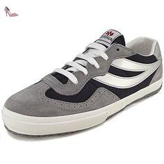 Superga 2832 NYLU, Baskets mode femme, gris/noir (grey mineral/black