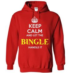 BINGLE - KEEP CALM AND LET THE BINGLE HANDLE IT - #tshirt customizada #vintage sweatshirt. PURCHASE NOW => https://www.sunfrog.com/Valentines/BINGLE--KEEP-CALM-AND-LET-THE-BINGLE-HANDLE-IT-55264058-Guys.html?68278