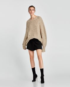 6029718a074b Image 1 of OVERSIZED RIPPED-EFFECT SWEATER from Zara Scarpe Con Tacchi A  Spillo