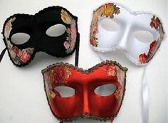 Blooming Mardi Gras Masks -   Hand made in the USA!