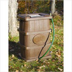 Achla 50 Gallon Rain Catcher with Wood Grain, $119.31 (http://www.gardencottage.com/rain-catcher-wood-grain/)