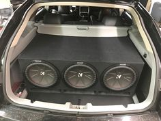 Do you think this will make enough bass? The team at Stereo-In-Dash North Dixie recently installed these three big Kicker CompR subwoofers in this giant custom-made ported enclosure along with a Kicker CXA1200.1 amplifier, in this mean Dodge Magnum! If you need a custom subwoofer solution for your ride, then visit any of our four locations (California Custom Sounds Beavercreek, California Custom Sounds West Carrollton/Moraine, Stereo-In-Dash North Dixie, and Stereo-In-Dash South) to learn…