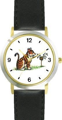 Tiger & Bird's Nest Cartoon - JP Animal - WATCHBUDDY® DELUXE TWO-TONE THEME WATCH - Arabic Numbers - Black Leather Strap-Size-Children's Size-Small ( Boy's Size & Girl's Size ) WatchBuddy. $49.95. Save 38% Off!