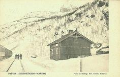 Nordland fylke Narvik Dybvik ved riksgrensen på Ofotbanen brukt 1910 Utg Erl. Groth, Kiruna
