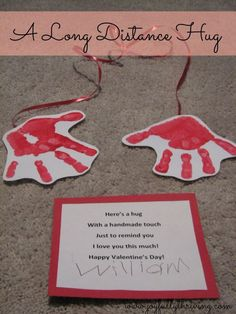 A Long Distance Hug - My Cute Preschoolers Craft For Valentine's Day. Kids, Moms And Teachers All Loved It!
