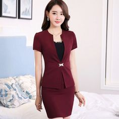 Good Quality Chantilly Best Fit Formal Female Office Business Suit,Fashion…