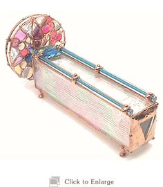 """Stained Glass Wheel Kaleidoscope """"Zen"""" by Sue Rioux Designs. American Made. 2013 Buyers Market of American Craft. americanmadeshow.com"""