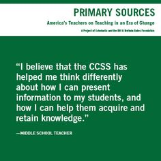 Has #CommonCore affected teachers' teaching practice? More than 1,600 #teachers told us their thoughts. www.scholastic.com/primarysources. #teachervoices