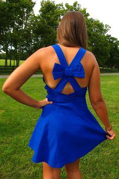 Cross Your Mind Dress-Blue $45 www.thebluegrassboutique.com