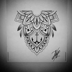 Ornaments mandala design by marjorianne mandala tattoo Mandala Tattoo Design, Half Mandala Tattoo, Dotwork Tattoo Mandala, Mandala Hand Tattoos, Tattoo Designs, Lotus Mandala, Geometric Mandala, Mandala Dots, Flower Mandala