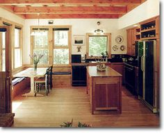 Interesting kitchen idea Small Homes by Ross Chapin Architects