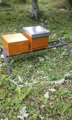 My first ever made beehives + platform
