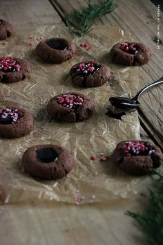 day12026 Waiting for Christmas 2013 : Jour 12 Chocolate Thumbprint Cookies