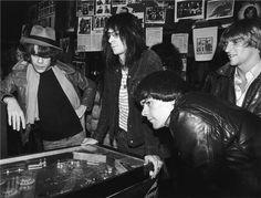 David Johansen, Lenny Kaye, Dee Dee Ramone & Andy Paley, NYC 1977