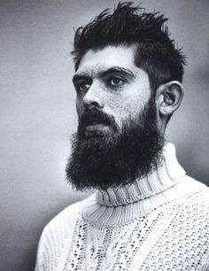 rugged male model w/ beard! BEN - big afro-type hair too Beard Oil And Balm, Beard Balm, Best Beard Oil, Types Of Beards, Natural Beard Oil, Beard Grooming Kits, Big Afro, Short Beard, Moda Masculina