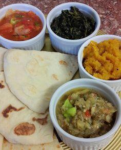 Breakfast is served #bhagi #pumpkintalkari #tomatochoka #baiganchoka #spinach #sadaroti #trinidad  #forkyeah #trinigourmet_withatwist  #trinifoodporn #trinifoodinlondon #caterer #indocaribbean #buzzfeast #getinmybelly #foodgasm #vegetarian #whatveganseat #westindian #vegan #veganfoodshare  #vegetarianfoodshare #yum #islandfoodporn #islandfood #foodpic #foodie #foodstagram #foodporn #delicious