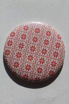 Miroirs de poche motif flocons de neige rouge et blanc : Autres accessoires par bog-art