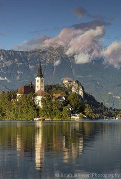 St Mary's Church, Lake Bled, Slovenia. © Brian Jannsen Photography