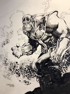 Thanos, by Jim Lee. The Effective Pictures We Offer You About Marvel Comics spiderman A quality picture can tell you Thanos Marvel, Marvel Art, Ms Marvel, Comic Book Artists, Comic Artist, Comic Books Art, Marvel Comic Character, Marvel Characters, Monsters