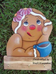 Handpainted Gingerbread Pot Holder/ Keys by stephskeepsakes, $21.95