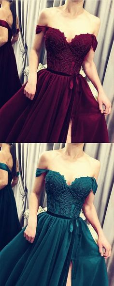 Elegant Lace Embroidery Tulle Split Formal Gown Off The Shoulder prom dress cg14434 Mermaid Sequin Dress, Sequin Prom Dresses, Long Prom Gowns, Formal Gowns, Bridesmaid Dresses, Affordable Prom Dresses, Prom Dresses Online, Tulle Ball Gown, Ball Gown Dresses