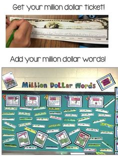 Writing Mini Lesson- Million Dollar Words using FAAVS by Rockin Resources: F- Figurative Language A-Adjectives A- Adverbs V- Verbs S- Sense Words