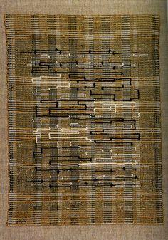 "Anni Albers | Black-White-Gold I cotton + jute + metallic ribbon | 25"" x 19"" | New Haven, Connecticut, U.S.A. | 1950"