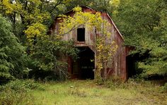 Weathered Red Barn...'